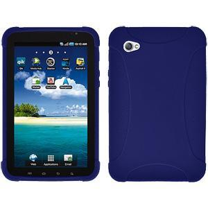 AMZER Silicone Skin Jelly Case for Samsung GALAXY Tab GT-P1000 - Blue