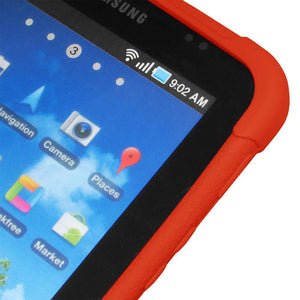 AMZER Silicone Skin Jelly Case for Samsung GALAXY Tab GT-P1000 - Orange