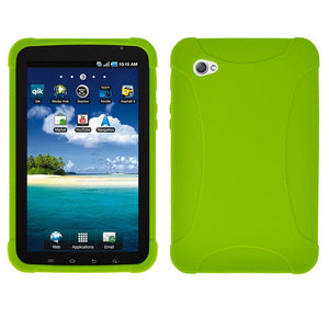 AMZER Silicone Skin Jelly Case for Samsung GALAXY Tab GT-P1000 - Green