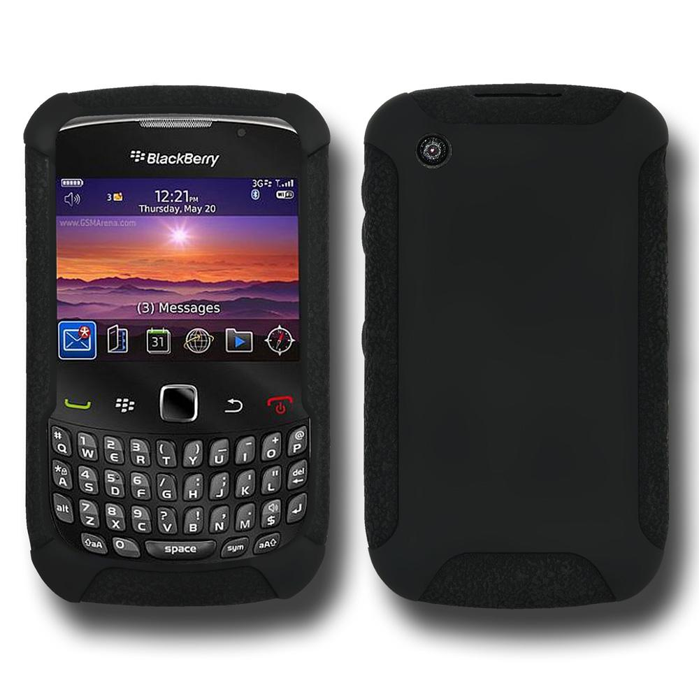 Amzer Silicone Skin Jelly Case - Black for BlackBerry Curve 8520, BlackBerry Curve 3G 9300