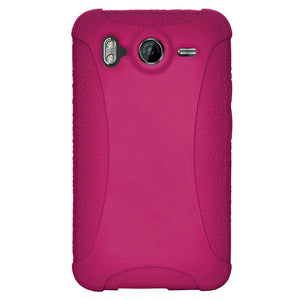 Amzer Silicone Skin Jelly Case - Hot Pink for HTC Desire HD