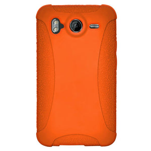 AMZER Silicone Skin Jelly Case for HTC Desire HD - Orange
