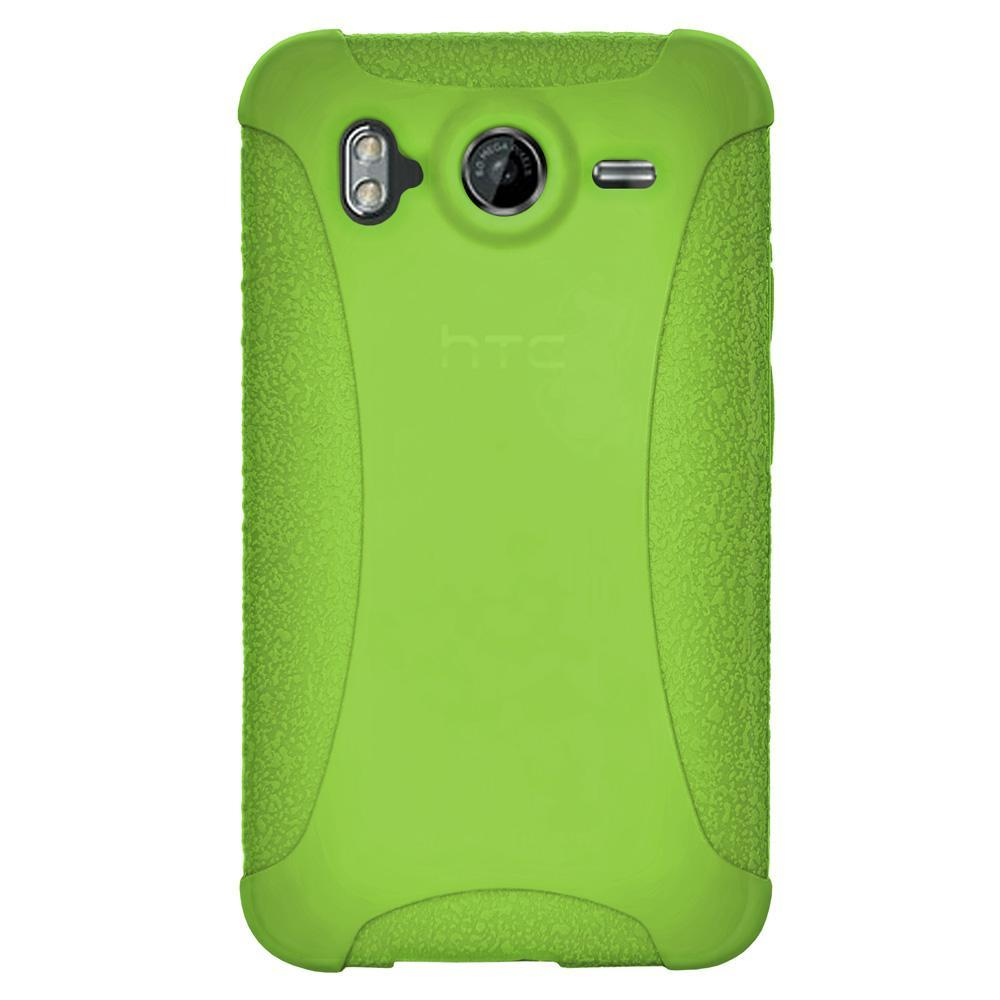 AMZER Shockproof Rugged Silicone Skin Jelly Case for HTC Desire HD - Green