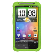Load image into Gallery viewer, AMZER Shockproof Rugged Silicone Skin Jelly Case for HTC Desire HD - Green