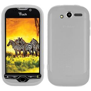 AMZER® Silicone Skin Jelly Case - Transparent White for HTC myTouch 4G