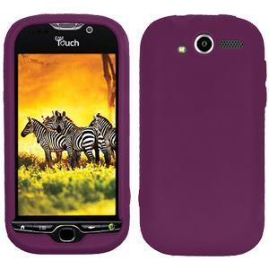 AMZER® Silicone Skin Jelly Case - Purple for HTC myTouch 4G