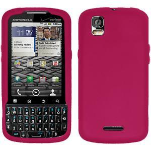 AMZER Silicone Skin Jelly Case for Motorola DROID PRO XT610 - Hot Pink