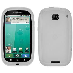 AMZER® Silicone Skin Jelly Case - Transparent White for Motorola BRAVO MB520