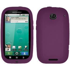AMZER® Silicone Skin Jelly Case - Purple for Motorola BRAVO MB520