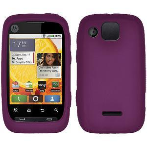 AMZER® Silicone Skin Jelly Case - Purple for Motorola CITRUS WX445