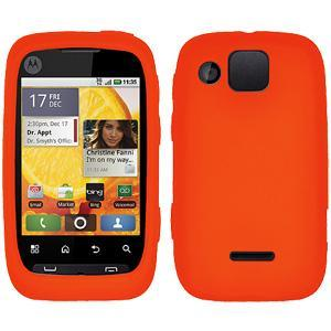 AMZER® Silicone Skin Jelly Case - Orange for Motorola CITRUS WX445