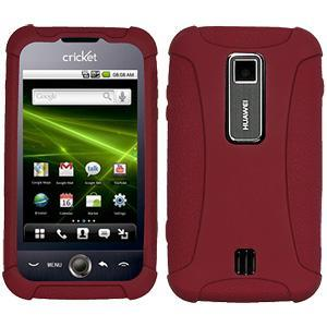 AMZER® Silicone Skin Jelly Case - Maroon Red for Huawei Ascend M860