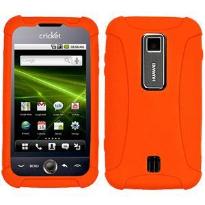 AMZER® Silicone Skin Jelly Case - Orange for Huawei Ascend M860