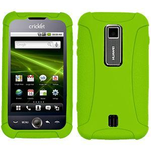 AMZER® Silicone Skin Jelly Case - Green for Huawei Ascend M860