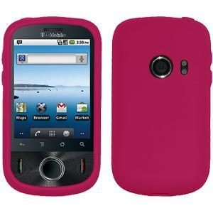 AMZER Silicone Skin Jelly Case for Huawei Comet U8150 - Hot Pink