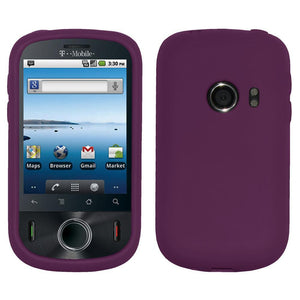AMZER Silicone Skin Jelly Case for Huawei Comet U8150 - Purple