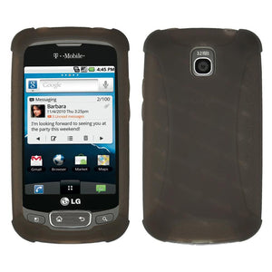 AMZER Silicone Skin Jelly Case for LG Optimus T - Grey