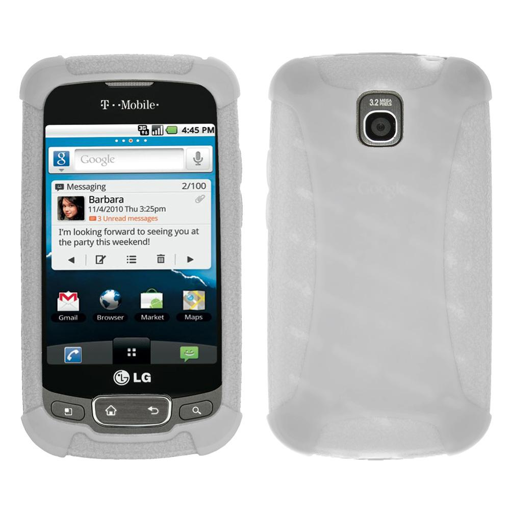 Amzer Silicone Skin Jelly Case - Transparent White for LG Optimus One P500