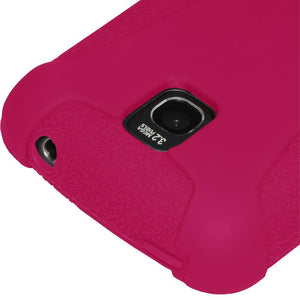AMZER Silicone Skin Jelly Case for LG Optimus T - Hot Pink
