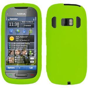 AMZER Silicone Skin Jelly Case for Nokia 701 - Green