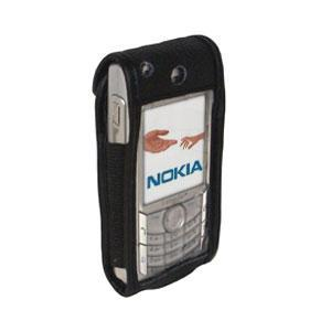 AMZER® Leather Case with Standard Clip for Nokia 6682