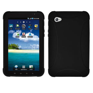 AMZER Silicone Skin Jelly Case for Samsung GALAXY Tab GT-P1000 - Black