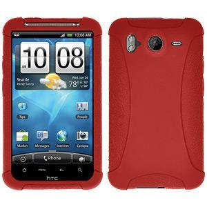 AMZER® Silicone Skin Jelly Case - Red for HTC Inspire 4G