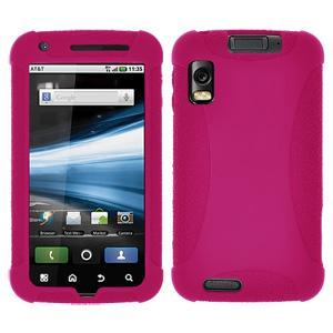 AMZER Silicone Skin Jelly Case for Motorola ATRIX 4G MB860 - Hot Pink