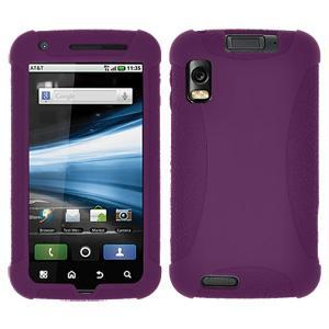 AMZER Silicone Skin Jelly Case for Motorola ATRIX 4G MB860 - Purple