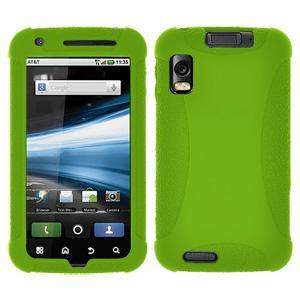 AMZER Silicone Skin Jelly Case for Motorola ATRIX 4G MB860 - Green