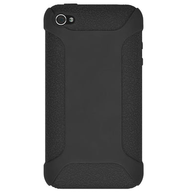 AMZER Shockproof Rugged Silicone Skin Jelly Case for iPhone 4 - Black