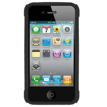 Load image into Gallery viewer, AMZER Shockproof Rugged Silicone Skin Jelly Case for iPhone 4 - Black