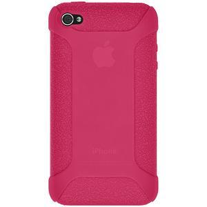 AMZER Shockproof Rugged Silicone Skin Jelly Case for iPhone 4 - Hot Pink