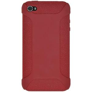 Amzer Silicone Skin Jelly Case - Red for iPhone 4S, iPhone 4