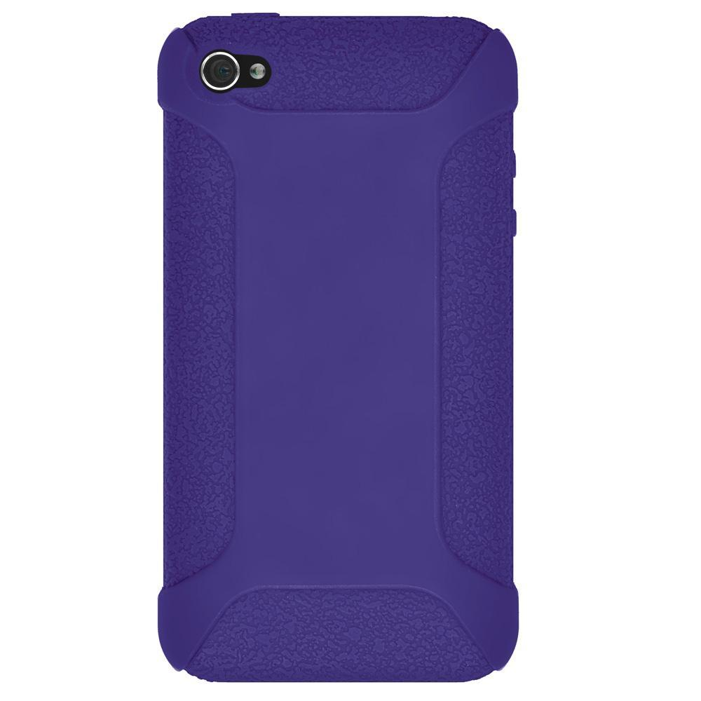 AMZER Shockproof Rugged Silicone Skin Jelly Case for iPhone 4 - Blue