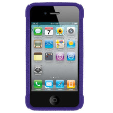 Load image into Gallery viewer, AMZER Shockproof Rugged Silicone Skin Jelly Case for iPhone 4 - Blue