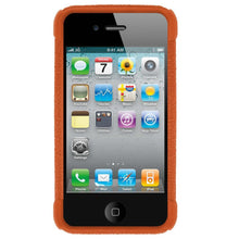 Load image into Gallery viewer, AMZER Shockproof Rugged Silicone Skin Jelly Case for iPhone 4 - Orange