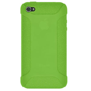 AMZER Shockproof Rugged Silicone Skin Jelly Case for iPhone 4 - Green