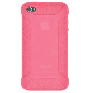 AMZER Shockproof Rugged Silicone Skin Jelly Case for iPhone 4 - Baby Pink