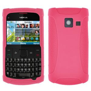 Amzer Silicone Skin Jelly Case - Baby Pink for Nokia X2-01