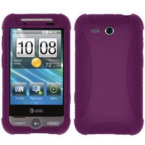 AMZER® Silicone Skin Jelly Case - Purple for HTC Freestyle