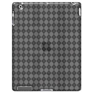 AMZER Luxe Argyle High Gloss TPU Soft Gel Skin Case - Clear for iPad 2