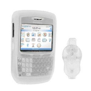 AMZER Silicone Case with Belt Clips for BlackBerry 8700c