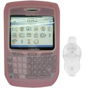 AMZER Silicone Case with Belt Clip for BlackBerry 8700c