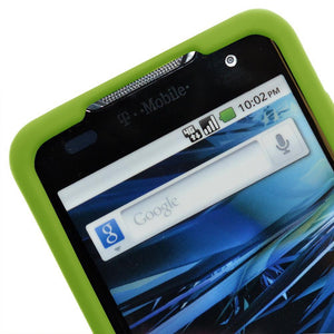AMZER Silicone Skin Jelly Case for LG G2x - Green