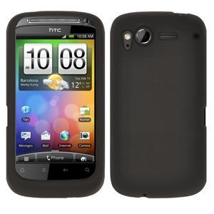 AMZER Silicone Skin Jelly Case for HTC Desire S - Grey