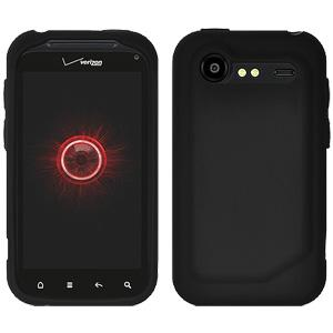 Amzer Silicone Skin Jelly Case - Black for HTC Incredible S
