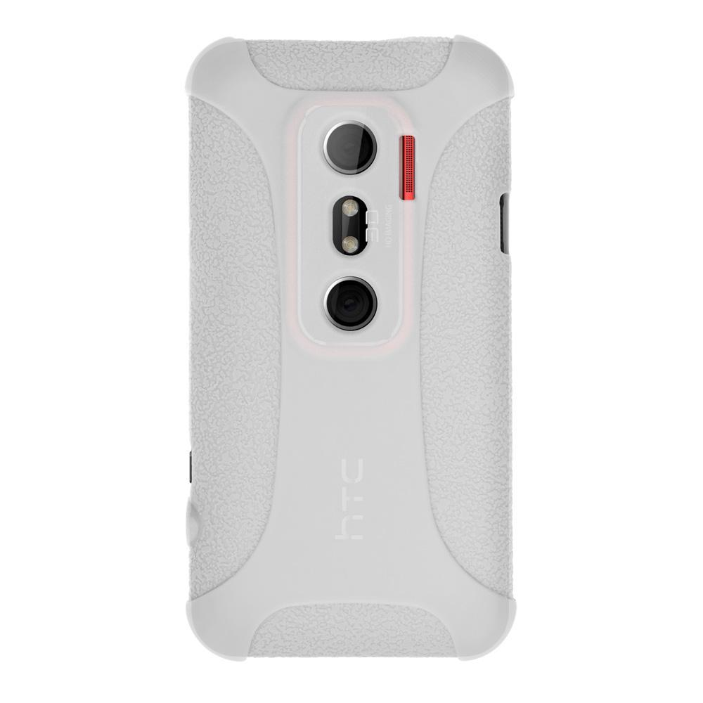 AMZER Silicone Skin Jelly Case for HTC EVO 3D - Transparent White