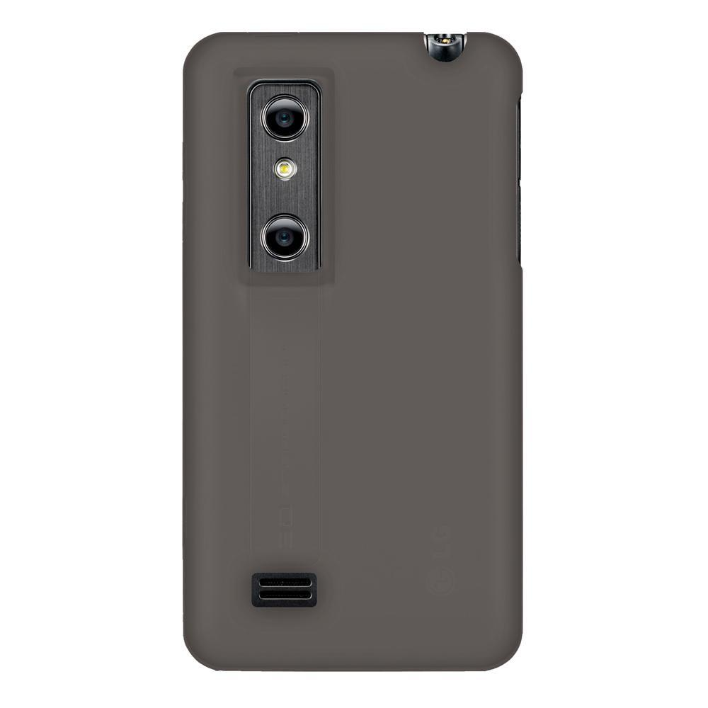 AMZER Silicone Skin Jelly Case for LG Optimus 3D P920 - Grey