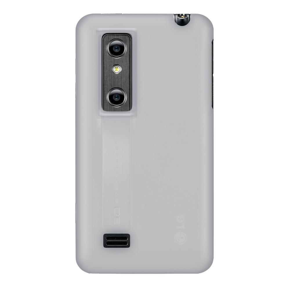Amzer Silicone Skin Jelly Case - Transparent White for LG Optimus 3D P920